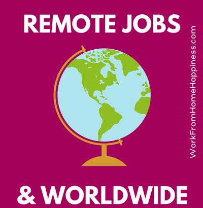 Travail International A Partir D Emplois A Domicile Et De Sites Web