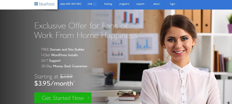 Commencez un site de coupon de manière simple avec BlueHost! Voici comment. &quot;Width =&quot; 1338 &quot;height =&quot; 600 &quot;/&gt; </p> <p> Cet écran d&#39;accueil explique les avantages de BlueHost et vous offre une réduction pour être un lecteur Work From Home Happiness &#8211; woot woot! Cliquez simplement sur le bouton &quot;Commencer maintenant&quot; pour passer à l&#39;étape suivante. </p> <h2> Sélectionnez votre site Web personnel Package d&#39;hébergement </h2> <p> BlueHost offre différents plans pour répondre à une variété de besoins d&#39;hébergement. Parce que vous cherchez à créer un site Web professionnel, le «paquet de départ» répondra à tous vos besoins (et ensuite, certains). Avec ce plan, vous recevrez votre nom de domaine gratuit et votre hébergement mensuel pour aussi peu que 3,95 $ par mois. </p> <p> <img class=