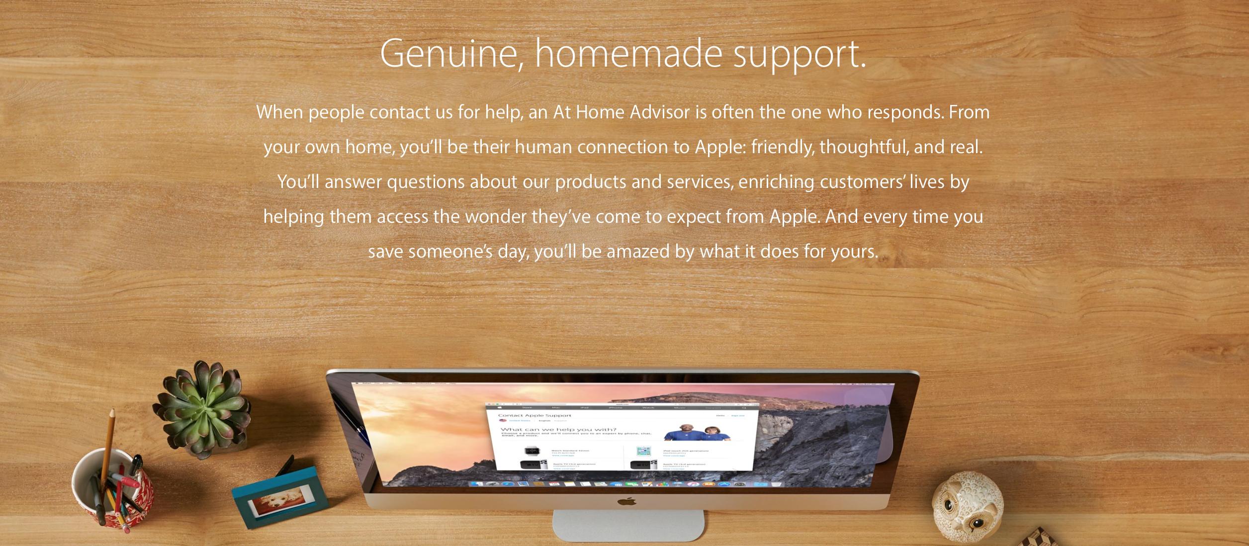 """Ces entreprises que vous connaissez et font confiance vous embauchent pour travailler à domicile en service à la clientèle. """"Width ="""" 2512 """"height ="""" 1098 """"/> </p> <p> Parfois, il existe même des occasions de travailler comme agent de discussion pour la populaire plate-forme iTunes d'Apple. Et parce que Apple veut que ses employés soient des utilisateurs actifs de produits, vous recevrez également un iMac gratuit à utiliser pour le travail. Comment est-ce pour un bonus supplémentaire? </p> <p> Vous ne devez pas nécessairement être un génie technologique pour être considéré, mais être à l'aise avec les produits Apple est un must. Vous aurez également besoin d'un bureau à domicile avec une porte que vous pouvez fermer, une chaise ergonomique, un bureau et une connexion réseau. </p> <p> Intéressé? Arrêtez-vous dans la page des offres d'emploi d'Apple pour découvrir quels postes de conseiller à la maison sont disponibles aujourd'hui. </p> <p> Même si vous n'avez pas d'AmEx dans votre porte-monnaie, je parie que vous êtes au moins familier avec cette société internationale de cartes de crédit. </p> <p> Au dernier compte, American Express comptait plus de 52 millions de titulaires de carte. C'est un tas de gens qui ont des questions sur leurs matières plastiques. C'est là que vous venez. </p> <p> <img class="""