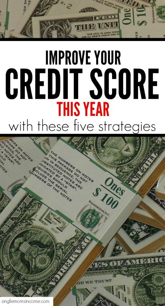 Ce n'est pas parce que votre pointage de crédit n'est pas ce que vous voulez que cela doit rester! Voici cinq choses à faire cette année pour un meilleur pointage de crédit. #personalfinance #creditscore #argent