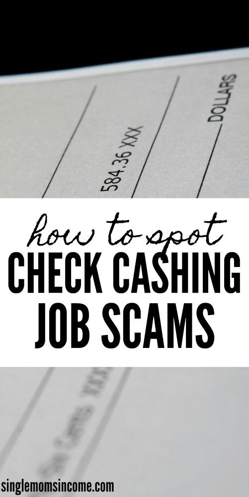 Si vous cherchez un moyen de gagner de l'argent à la maison, vous voulez éviter les escroqueries liées à l'encaissement de chèques! Voici ce qu'il faut rechercher. #scams #workfromhomescams