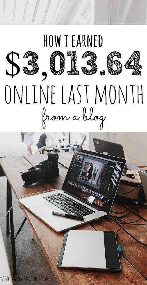 Blog Income Report - Comment j'ai gagné plus de 3 000 dollars le mois dernier sur un blog. #blogincomereport #incomereport #makemoneyonline
