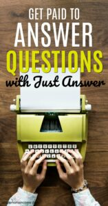 Êtes-vous un expert dans un certain domaine? Si c'est le cas, vous pouvez gagner de l'argent en répondant à des questions. En savoir plus dans notre examen Just Answer. #travail à domicile