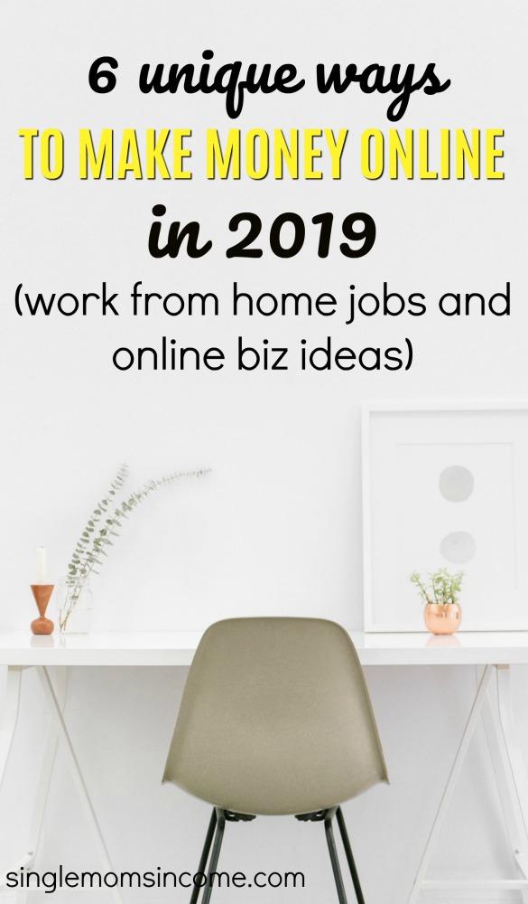 Êtes-vous prêt à vous lancer dans une nouvelle aventure ou tout simplement à trouver un travail légitime à la maison? Voici six façons uniques de gagner de l'argent en ligne en 2019. #makemoneyonline #workfromhome #sidehustle