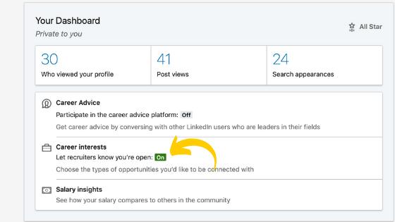 Voici comment vous pouvez utiliser les candidats ouverts sur LinkedIn pour être trouvé par les recruteurs!