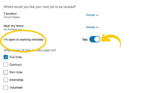 Vous pouvez utiliser LinkedIn pour trouver un travail à domicile. Voici comment permettre à Open Candidate de faire savoir aux recruteurs que vous souhaitez travailler à domicile.