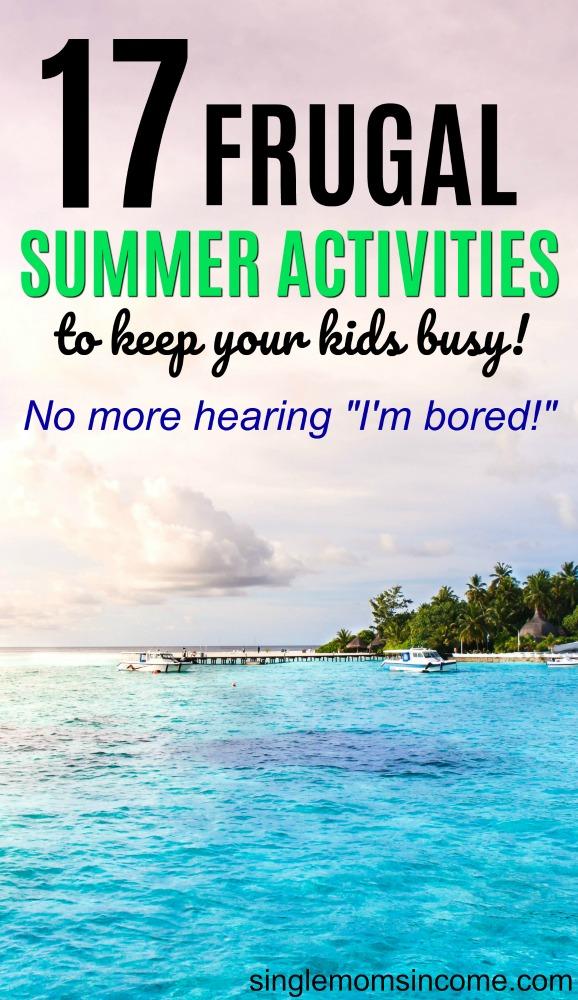 Vous cherchez à occuper vos enfants cet été sans vous ruiner? Voici 17 activités estivales frugales que vos enfants vont adorer! #frugal #kidsactivities #cheapkidsactivities