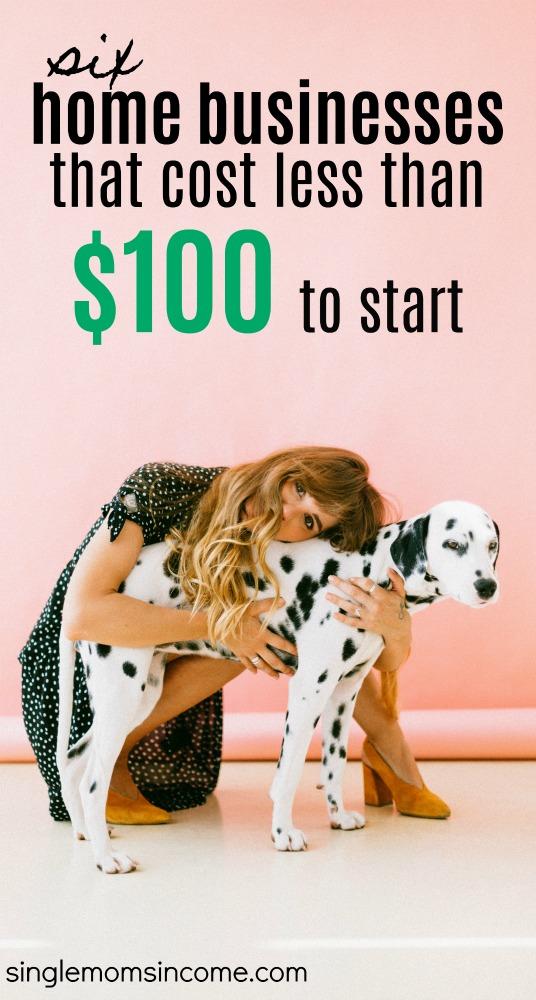 Peu d'argent? il y a encore des options qui vous permettent de devenir entrepreneur. Voici 6 idées d'entreprises qui coûtent moins de 100 $ au départ. #homebusiness #workfromhome