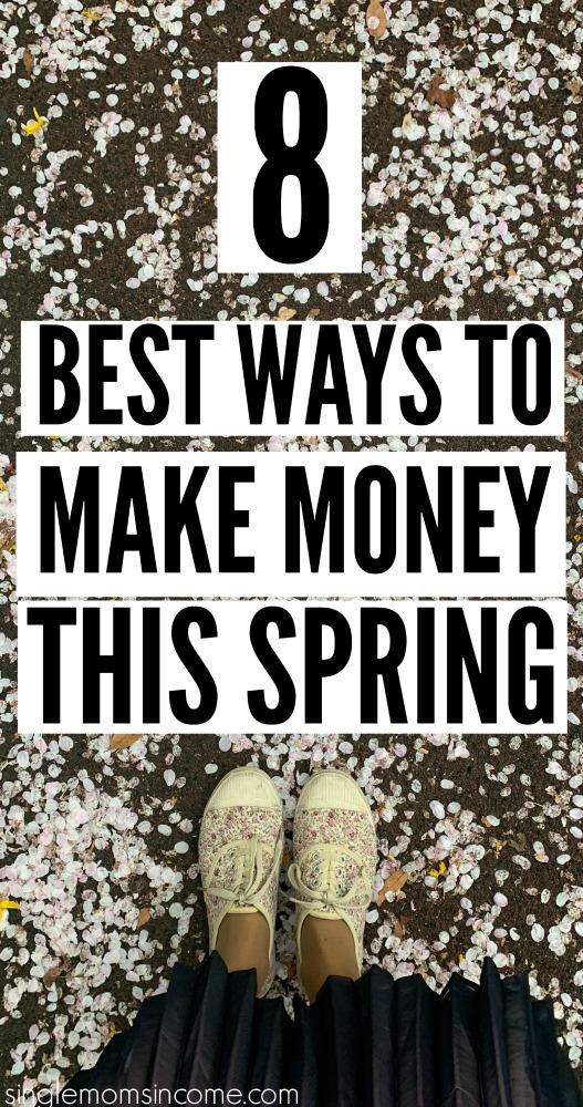 Il y a tellement de façons amusantes de gagner de l'argent supplémentaire une fois que le temps commence à s'améliorer. Voici 8 des meilleures façons de gagner de l'argent ce printemps. #makemoney #workfromhome