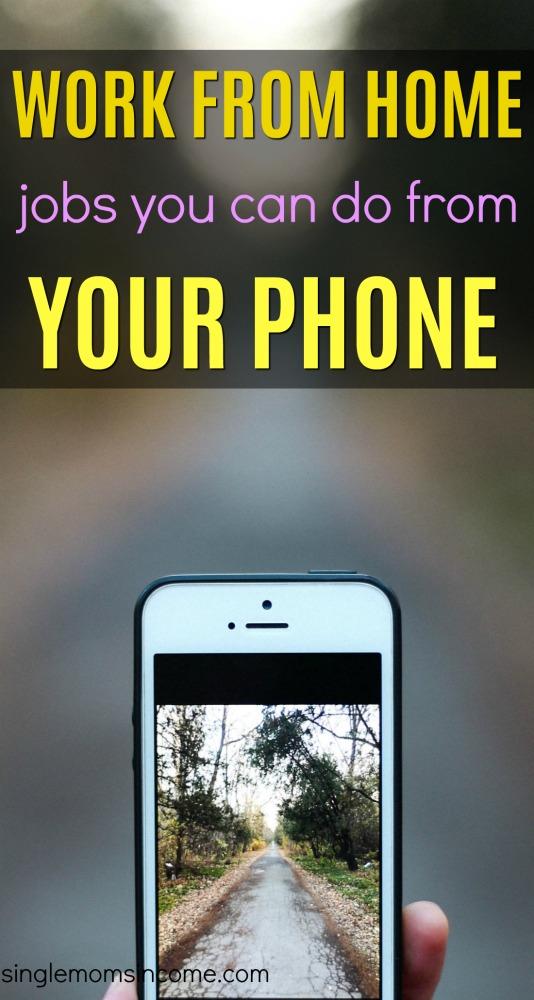 Les travaux à domicile que vous pouvez effectuer à partir de votre téléphone sont rares, mais certains existent. Voici quatre entreprises qui vous permettent de travailler à partir de votre téléphone mobile. #workfromhomejobsfromyourphone #legitworkathome #sidehustle