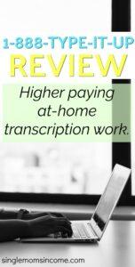 Vous cherchez un travail de transcription plus payant? Consultez notre examen 1888typeitup. #transcription #workfromhome