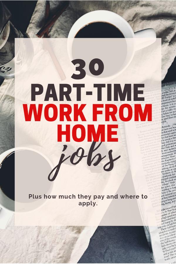 30 emplois à temps partiel à domicile | Vous cherchez à gagner de l'argent supplémentaire selon votre propre horaire? Si tel est le cas, voici 30 emplois à temps partiel à domicile. Le salaire horaire et les heures sont également indiqués. #parttimeworkfromhomejobs #workfromhome #wahm #sidehustle #extramoney