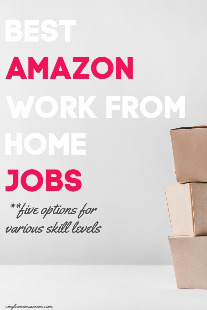 Vous cherchez un travail à domicile avec une entreprise de bonne réputation? Voici les cinq meilleurs travaux Amazon à domicile - quelque chose pour tous les niveaux de compétences. #workfromhome #amazon