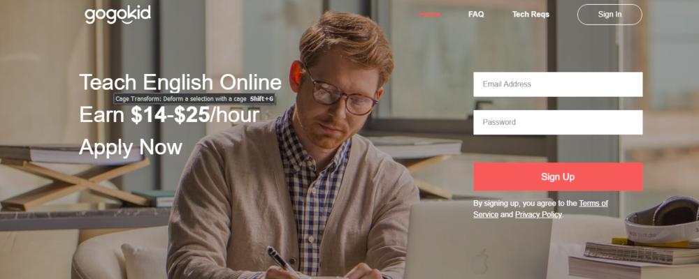 GoGoKid Website - Gagnez de l'argent en enseignant ESL aux enfants