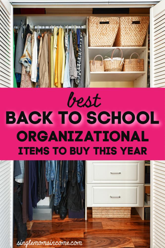 La rentrée scolaire ne concerne pas que le stylo et le papier. En fait, les ventes de rentrée scolaire sont un très bon moment pour acheter des articles d'organisation. Voici nos meilleurs choix. #backtoschool #organizing