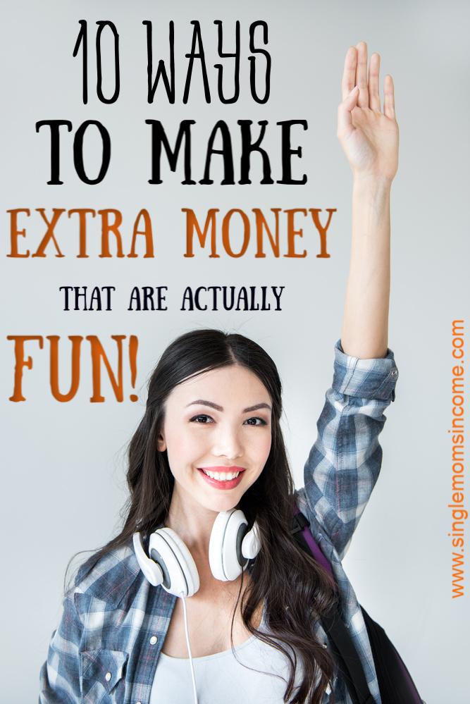 Fatigué de la monotonie d'un travail régulier? Je te sens. Voici dix façons amusantes de gagner de l'argent supplémentaire. Bonnes idées pour une grande variété d'intérêts! #makemoney #sidehustle #extraincome