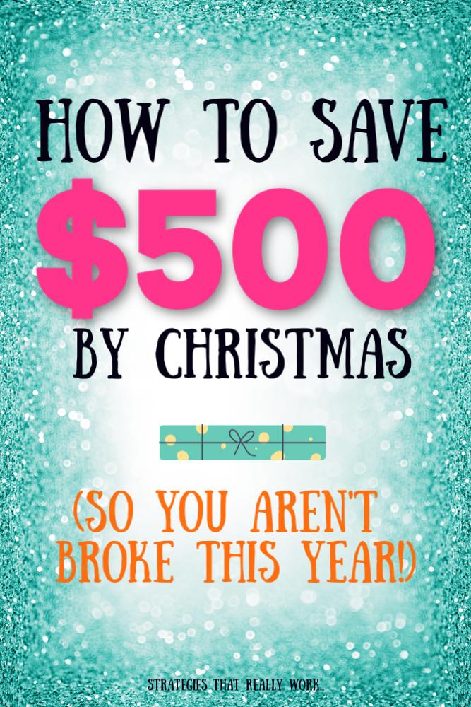 Ne fais pas faillite cette année. Voici comment économiser 500 $ d'ici Noël. #Noël #Argent