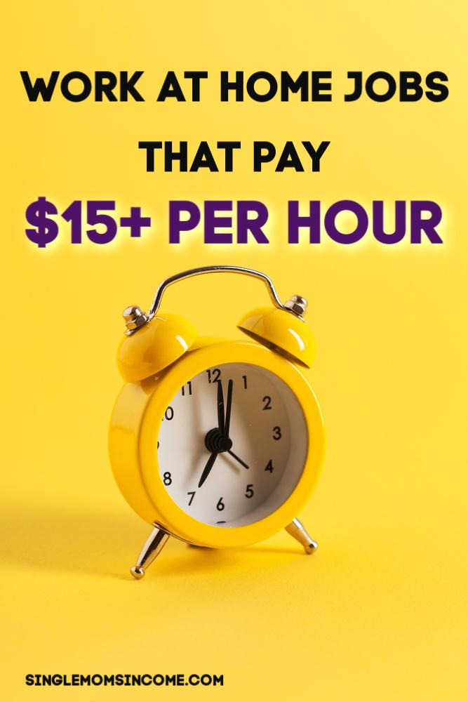 Bien que de plus en plus d'employeurs embauchent du personnel à domicile, il peut toujours être difficile de trouver un emploi rémunéré à plus de 9 dollars de l'heure! Voici le travail des emplois à domicile qui paient 15 $ ou plus par heure. #workathome #legitworkathome #highpayingjobs #onlinejobs