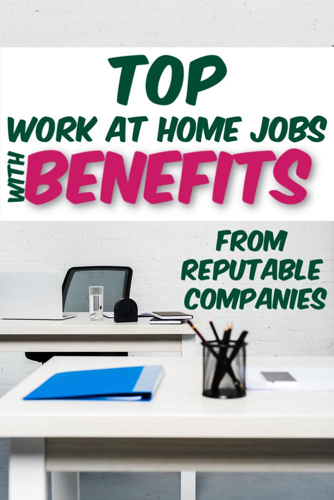 Si vous voulez travailler à la maison mais que vous avez besoin d'avantages sociaux, vous voudrez peut-être consulter ces emplois à domicile comportant des avantages sociaux. Des entreprises que vous connaissez et en qui vous avez confiance. #workathome #legitworkathome