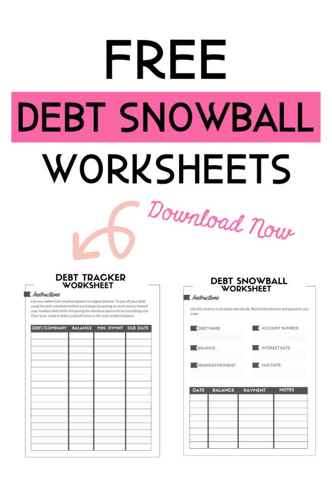 Si vous utilisez la méthode boule de neige de la dette pour rembourser votre dette, voici une feuille de calcul imprimable gratuite. Vous avez le choix entre deux fichiers PDF. #debtsnowball #freeprintables