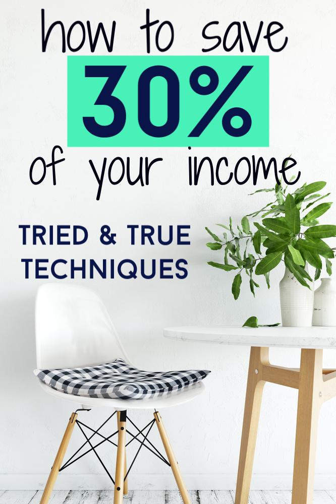 Voulez-vous améliorer votre jeu d'épargne? Voici comment économiser 30% de votre revenu. Comprend comment calculer votre nouveau budget, trouver des moyens d'épargner, et plus encore. #sauge #personnelfinancement