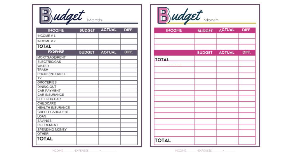 feuilles de calcul budgétaires gratuites