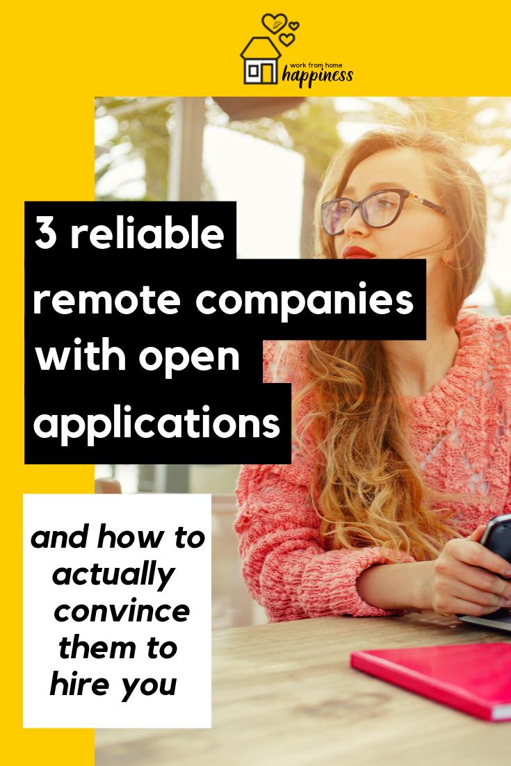"""Vous souhaitez remplir des applications dans des entreprises distantes dès maintenant? Voici 3 entreprises distantes fiables qui ont des applications ouvertes. De plus, comment convaincre une entreprise qui n'embauche pas pour vous engager! #workfromhome #workathome #remotework #careeradvice """"data-pin-description ="""" Voulez-vous remplir des applications dans des entreprises distantes maintenant? Voici 3 entreprises distantes fiables qui ont des applications ouvertes. De plus, comment convaincre une entreprise qui n'embauche pas pour vous engager! #workfromhome #workathome #remotework #careeradvice """"/> <! -<rdf:RDF xmlns:rdf="""
