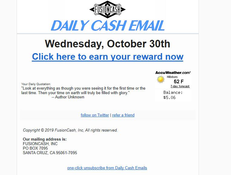 Fusion CAsh email payé.