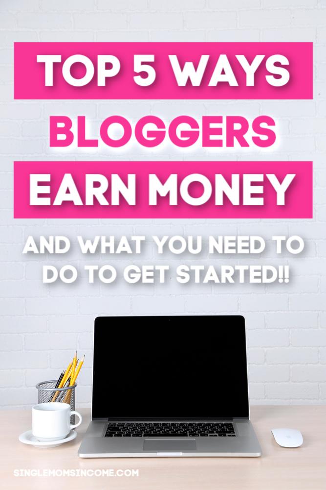 Les meilleures façons pour les blogueurs de gagner de l'argent - et comment commencer! #blogging #blogbiz