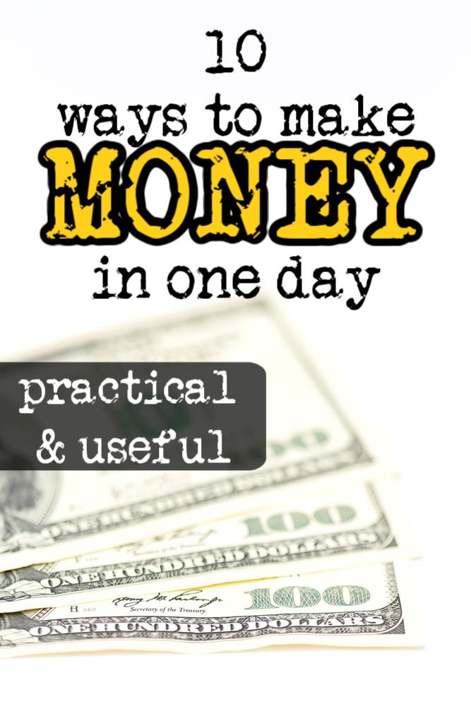 Si vous êtes pressé, il existe des moyens de gagner de l'argent en une journée. Bien que vos options puissent être limitées, vous pouvez trouver quelque chose sur cette liste de dix idées.