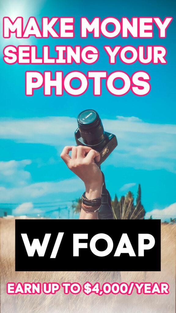 Prenez-vous de très belles photos? Si oui, vous pouvez télécharger l'application FOAP et commencer à les vendre. Les meilleurs vendeurs gagnent jusqu'à 4 000 $ par an!