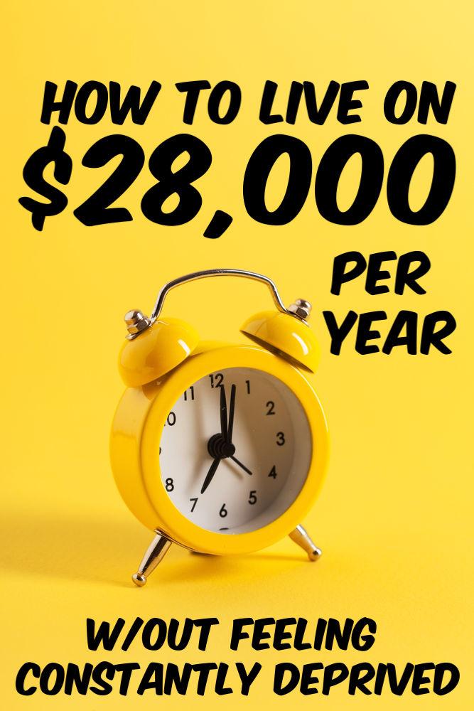 Vivre avec 28 000 $ par an n'est pas impossible. C'est le revenu total de certains ménages et ils le font bien fonctionner. Voici comment le faire confortablement.