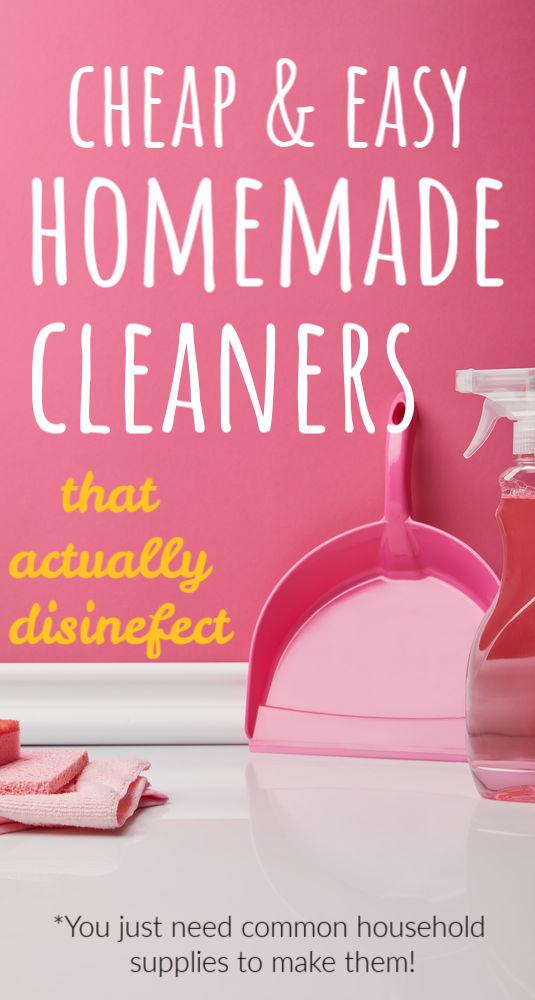 Si vos magasins locaux sont vendus de désinfectant, voici quatre nettoyants maison bon marché et faciles à désinfecter. (Seuls quelques ingrédients sont nécessaires.)