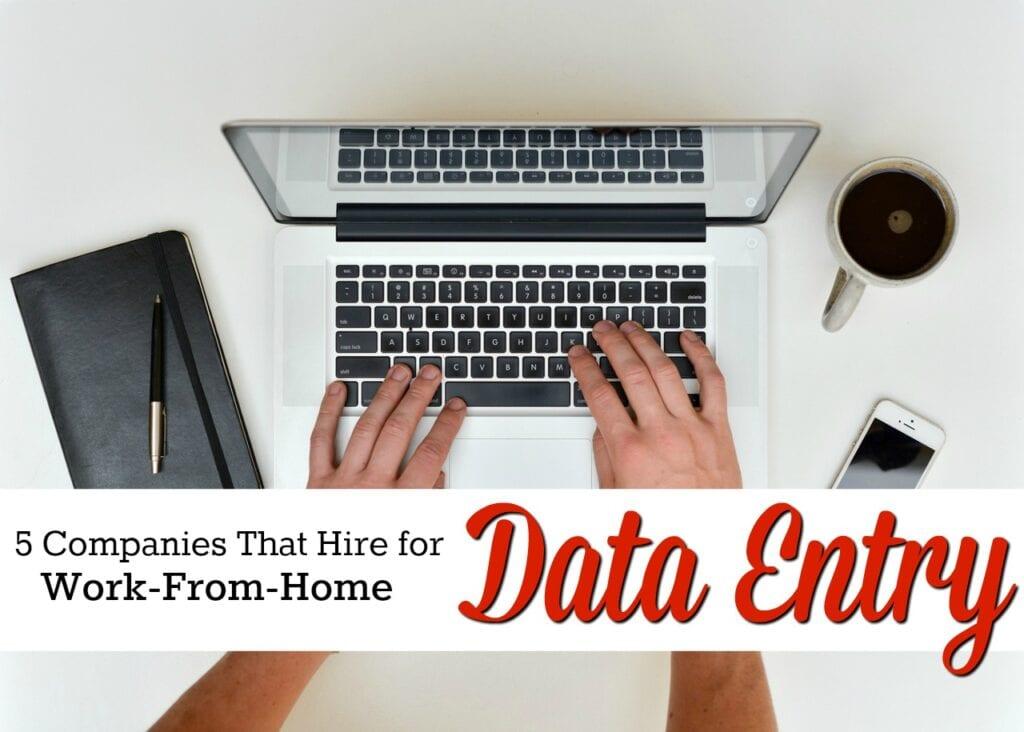 Êtes-vous un typer rapide? Si vous êtes intéressé par un travail de saisie de données à domicile, vous devriez consulter ces cinq entreprises qui recrutent souvent.