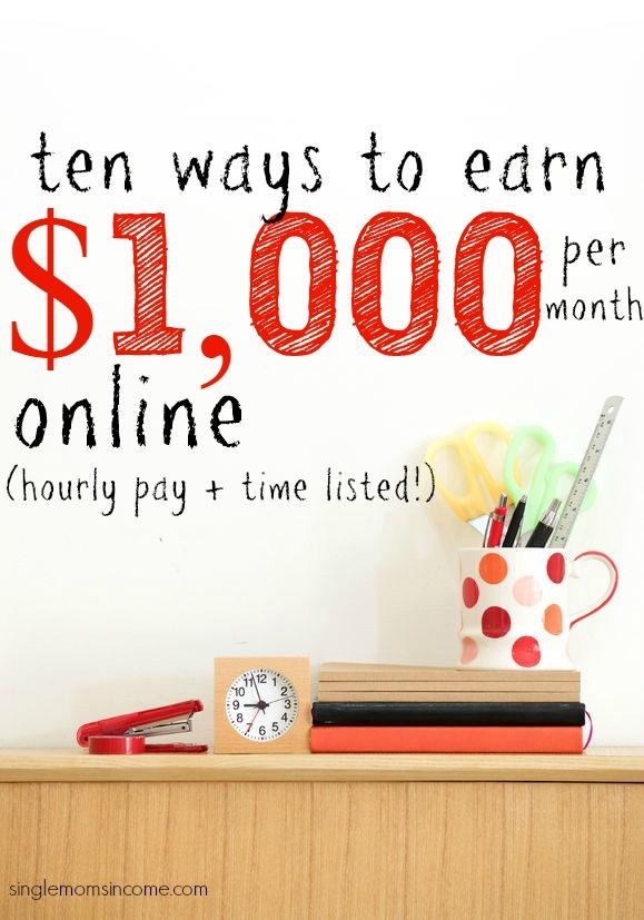 Si vous cherchez des moyens de gagner 1 000 $ par mois à domicile, voici dix. (Ils sont tous classés du salaire le plus bas au salaire le plus élevé.)