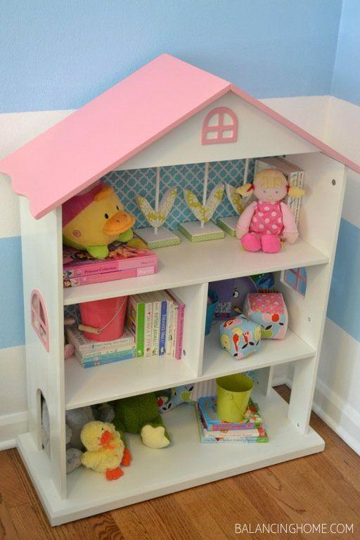étagère-livre-maison de poupée